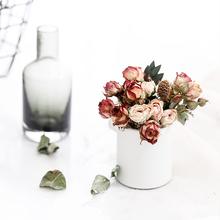 Mini róże małe róże DIY ręcznie suszone kwiaty świece zapachowe kwiaty materiały 5 sztuk worek tanie tanio MY001 Kwiat Głowy Walentynki