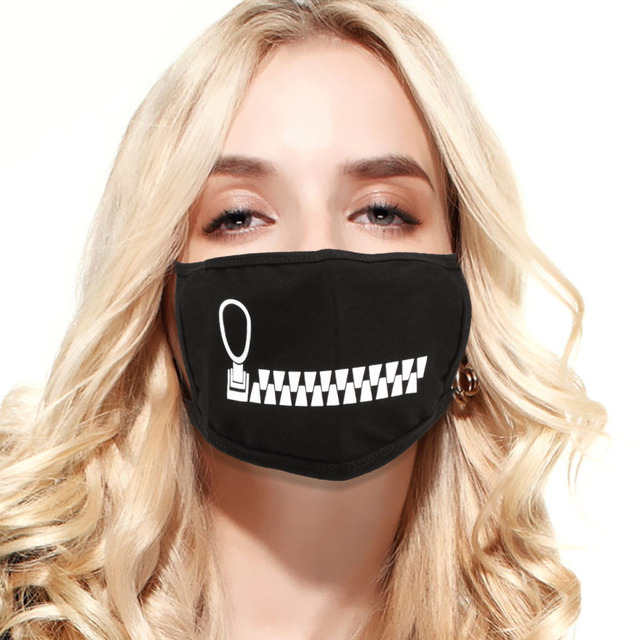 LEEPEE Windproof Anti Dust Washable Reusable Pure Cotton Mouth Mask Cute Expression Mouth Muffle Anti Haze Facial Protective 1