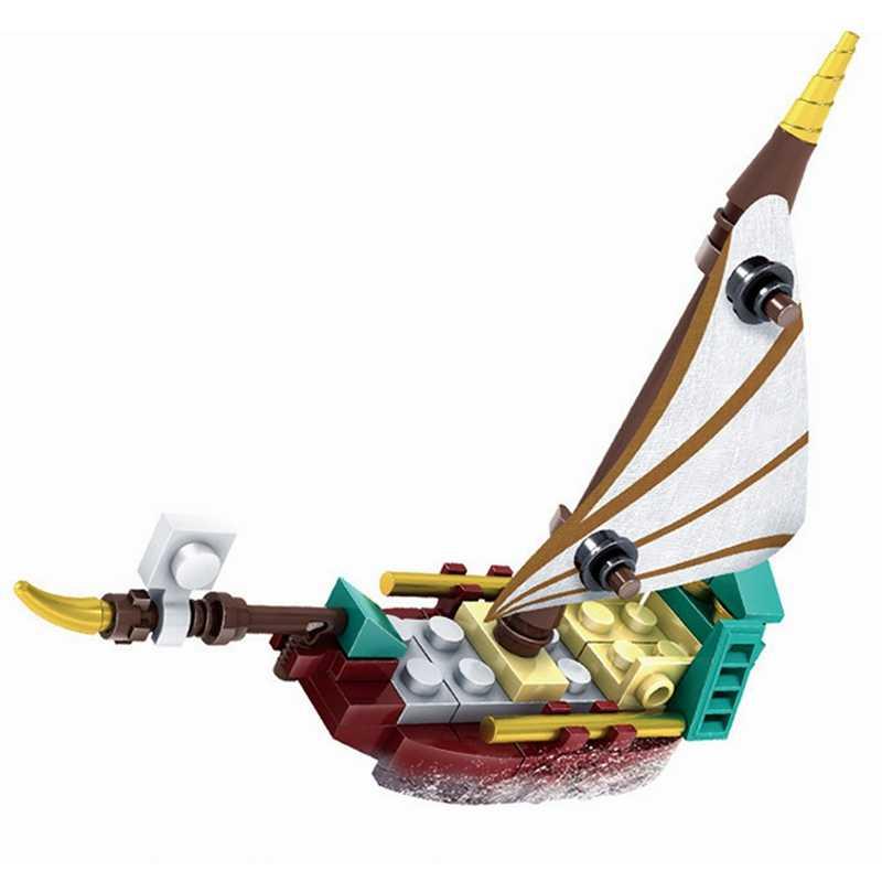 Legoing Cidade Do Oceano Barco Tubarão Única Venda de Montar Blocos de Construção de Brinquedos para As Crianças Da Cidade Legoing Bloco Barco Brinquedo Presentes