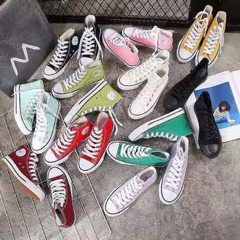 Chunky Sneakers mężczyźni buty do biegania buty trampki buty wulkanizowane brezentowe buty Casual Men Sneakers para 35-44 Off białe buty tanie i dobre opinie VOGEN PŁÓTNO CN (pochodzenie) RUBBER ZSZYWANE Stałe Na wiosnę jesień Converse Sznurowane Mieszkanie (≤1cm) Dobrze pasuje do rozmiaru wybierz swój normalny rozmiar