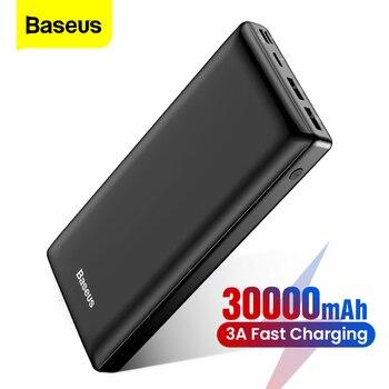 Baseus 30000 mAh Power Bank USB C Schnelle 30000 mAh Power Für Xiaomi iPhone Samsung Tragbare Externe Batterie Ladegerät Poverbank