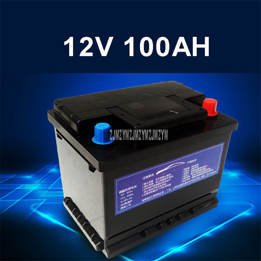 12V <font><b>100AH</b></font> <font><b>Car</b></font> Start-up Lithium Iron Phosphate <font><b>Battery</b></font> Built-in Protection Board Maintenance Free 1000CCA For <font><b>Car</b></font> Vehicle <font><b>Battery</b></font> image