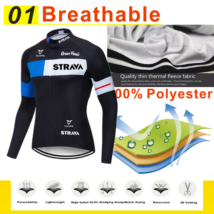 Mens Cycling Bicycle Clothing Fleece//Thin Outdoor Quick-Dry Soft Sport Jersery
