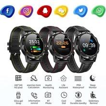 AA PUDCOCO Bluetooth Smart Watch HeartRate Oxygen Blood Pressure Sport Fitness Tracker Sky1 oxygen fitness hunter