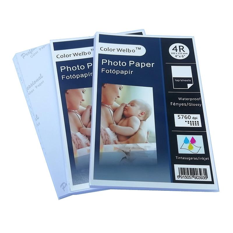 230g 4r Inkjet Photo Paper Waterproof Single Side 4x6 Inch Cast Coatd High Image Digital Output Glossy Photo Paper