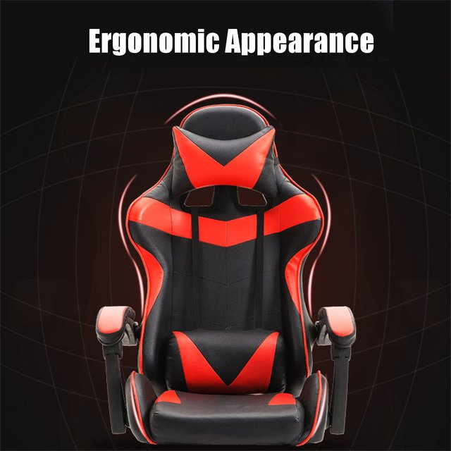 Professional PU Leather Racing Gaming Chair Office High Back Ergonomic Recliner With Footrest Computer Chair Furniture 5 Colors 3