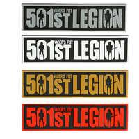 Parche militar de la Legión del puño del Vader, Escudo de combate táctico, insignias de goma, PVC 501st