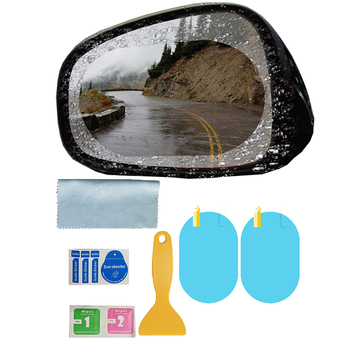 1 Pair Hydrophobic Film Rearview Mirror Rainproof Driving Safe Scratch-Resistant Stickers Waterproof Car Mirror Film image