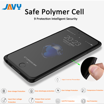 JAVY Portable Power Bank Charger Cover For iPhone 6 6S 7 8 Plus X XS Battery Charger Case Ultra Slim Charging Power banK