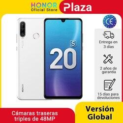 Новая глобальная версия Honor 20 S 20 S мобильные телефоны 6G 128G 6,15 ''Dewdrop экран 24MP фронтальная камера 48MP тройные камеры смартфон NFC