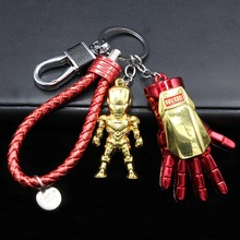 цена The Avengers Super hero Marvel Keychain Iron Man Captain America Shield Spiderman jewelry Metal Pendant Keychains Gift Toys онлайн в 2017 году