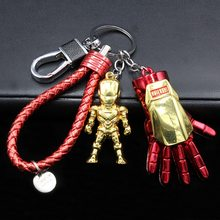 The Avengers Super hero Marvel Keychain Iron Man Captain America Shield Spiderman jewelry Metal Pendant Keychains Gift Toys(China)