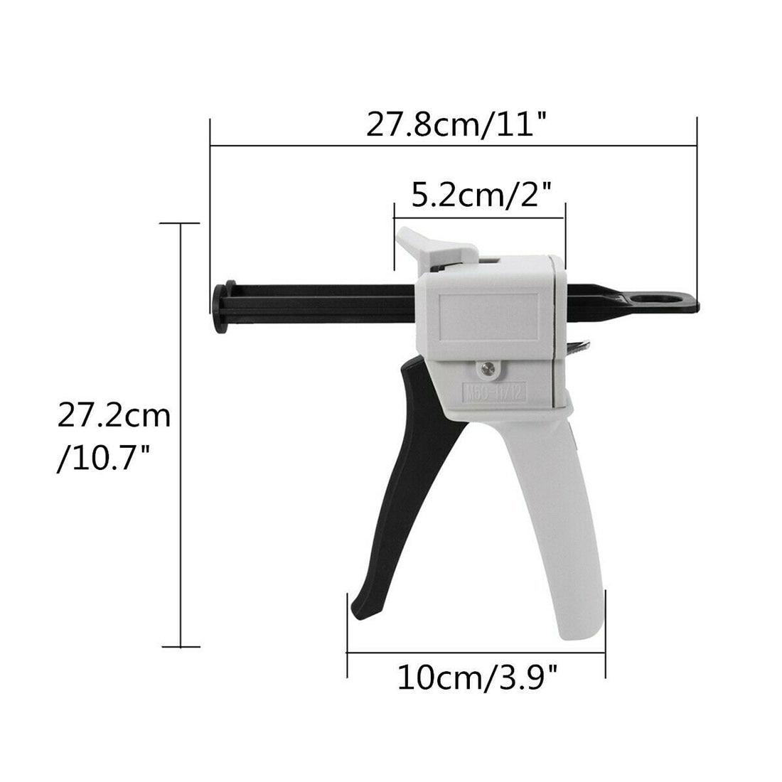 50ml AB Epoxy Sealant Glue Applicator Glue Adhensive Squeeze Mixed 1:1 Manual Caulking Gun Dispenser