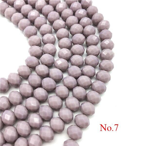 3x4 мм/4x6 мм/6x8 мм Хрустальные Круглые граненые стеклянные бусины для самостоятельного изготовления ювелирных изделий Аксессуары для ювелирных изделий - Цвет: No.7
