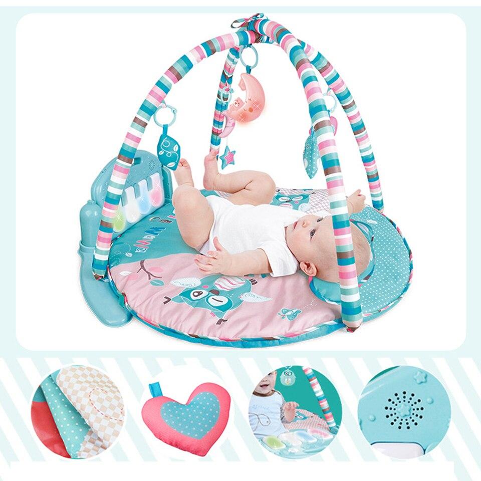 Musique bébé Piano clavier tapis de jeu jouet Gym tapis de jeu tapis Musical tapis pour les nouveau-nés enfants coloré bébé gym développement tapis