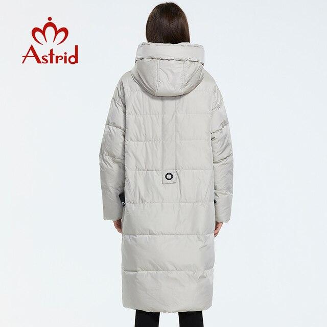 Astrid 2019 hiver nouveauté doudoune femmes vêtements amples vêtements d'extérieur qualité avec une capuche mode style hiver manteau AR-7038 4