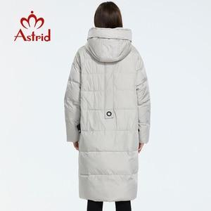 Image 4 - Astrid 2019 inverno nova chegada para baixo jaqueta feminina roupas soltas outerwear qualidade com um capuz moda estilo casaco de inverno AR 7038