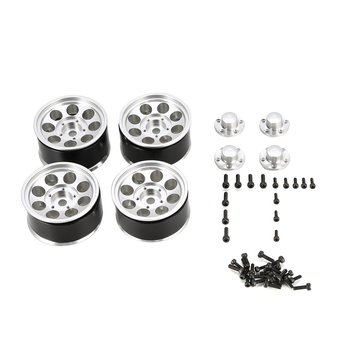 AUSTARHOBBY AX516 4PCS 1.55 Inch RC Car Aluminum Alloy Wheel Rim for Axial SCX10 90046 D90 TF2 Tamiya 1/10 RC Crawler 4pcs metal wheel rim beadlock wheel hub 1 55 inch rc car aluminum alloy black wheel rim for 1 10 rc crawler car model toy