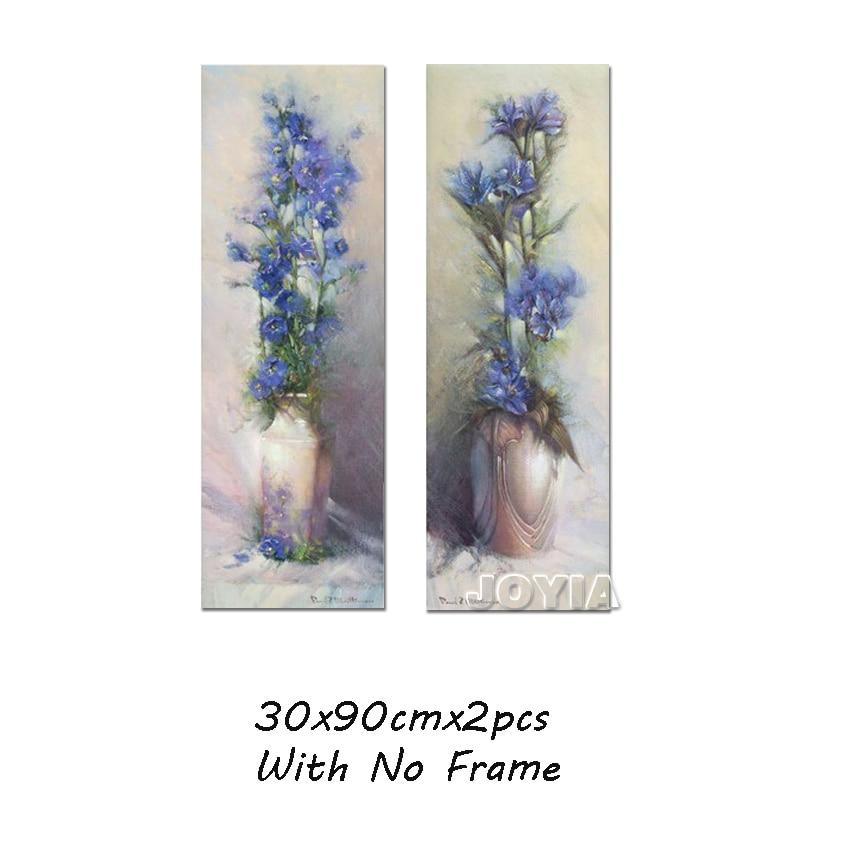 90cm große abstrakte Leinwandbilder Vintage Blumenvase Gehobene - Wohnkultur - Foto 5