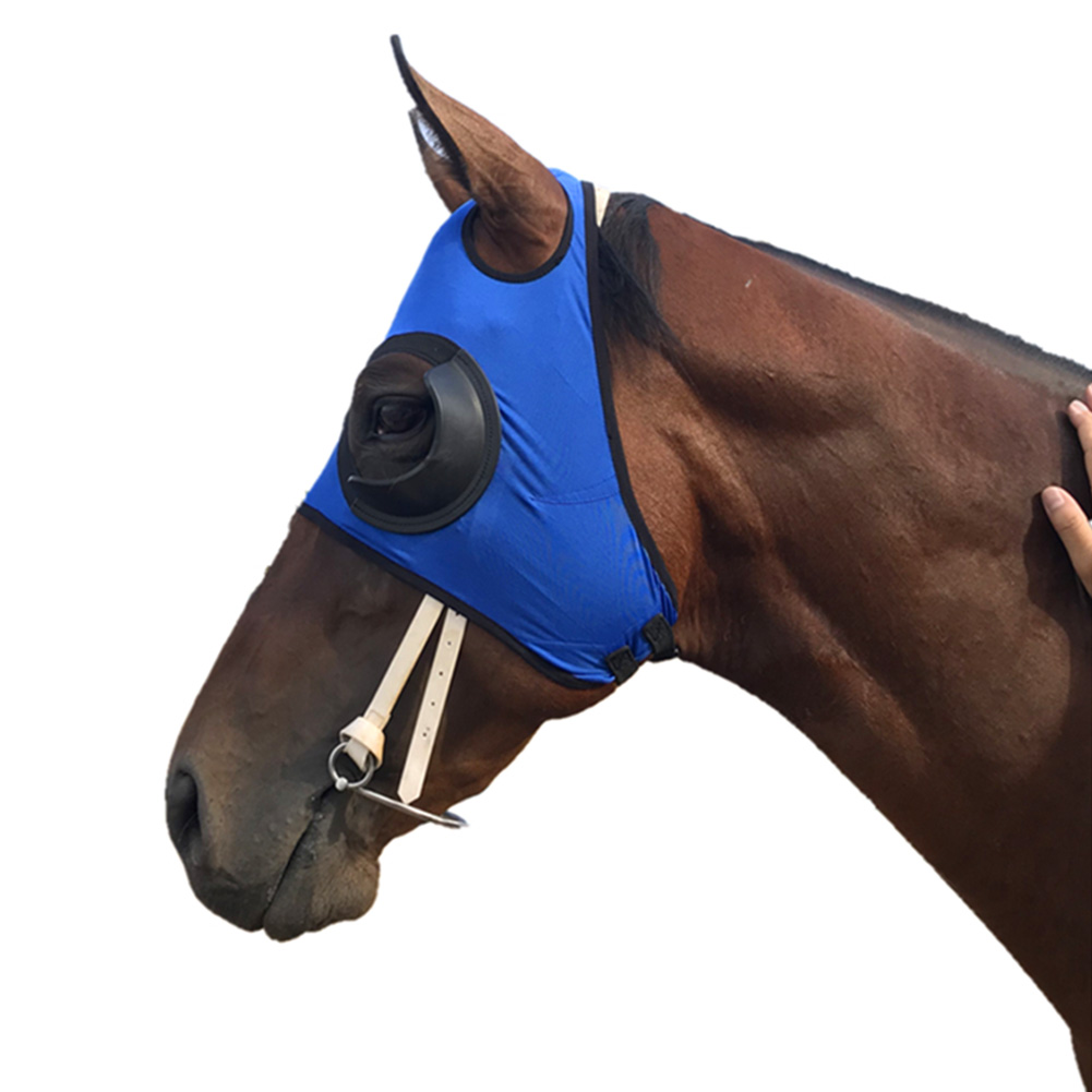 Blinker Hood Quarter Cup Equestrian Equipment Practical Anti Mosquito Outdoor Sports UV Protection Horse Fly Mask Visible Safety