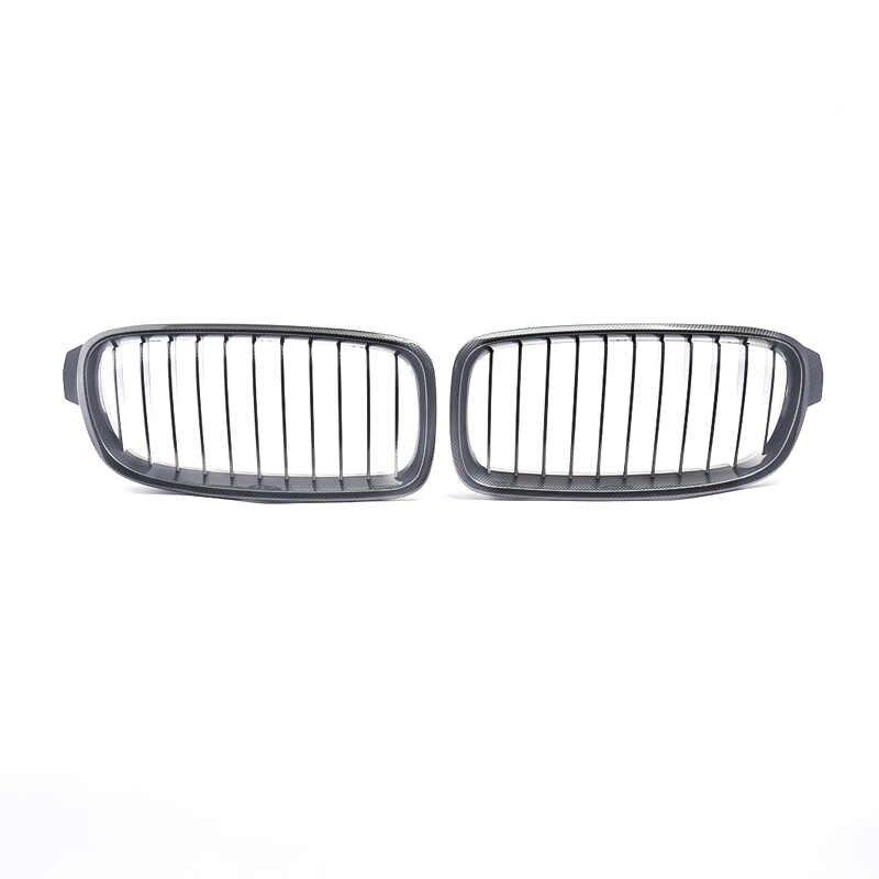 MagicKit z włókna węglowego z przodu nerka maskownica do BMW serii 3 F30 F31 F34 M3 330dX/335dX/340i/320i salony kosmetyczne 2012-17 Racing grille