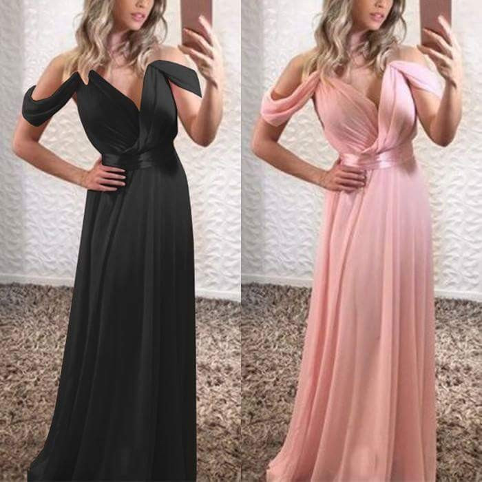 Bridemaid Dress Sheath With Spaghetti Straps Ruffles Floor-length Dress Sweetheart Sexy For Wedding Party Dresses