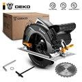 DEKO Электро-инструменты для циркулярная пила с лазерной линейкой/лезвием/проходом от пыли/вспомогательной ручкой, высокая мощность, Многофу...