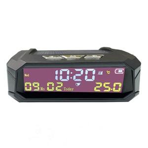 Image 4 - รถออโต้ดิจิตอลนาฬิกา รถอุณหภูมิดูพลังงานแสงอาทิตย์LCD TPMSวันที่สำหรับกลางแจ้งอะไหล่รถส่วนตัวอุปกรณ์เสริม