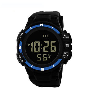 Image 3 - Mens Black Face Black Screen Multi function Student Sports Electronic Watch Led Waterproof Luminous Simple Trend Watch