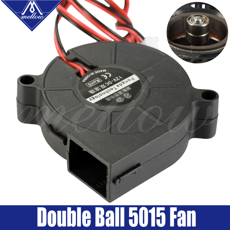 3D Printer Blower Fan 5015 12V 0.28A/24V 0.1A Dual Bearing Fan Centrifugal DC Cooling Turbo Fan 5015S For I3 CR-10/10S/Ender3