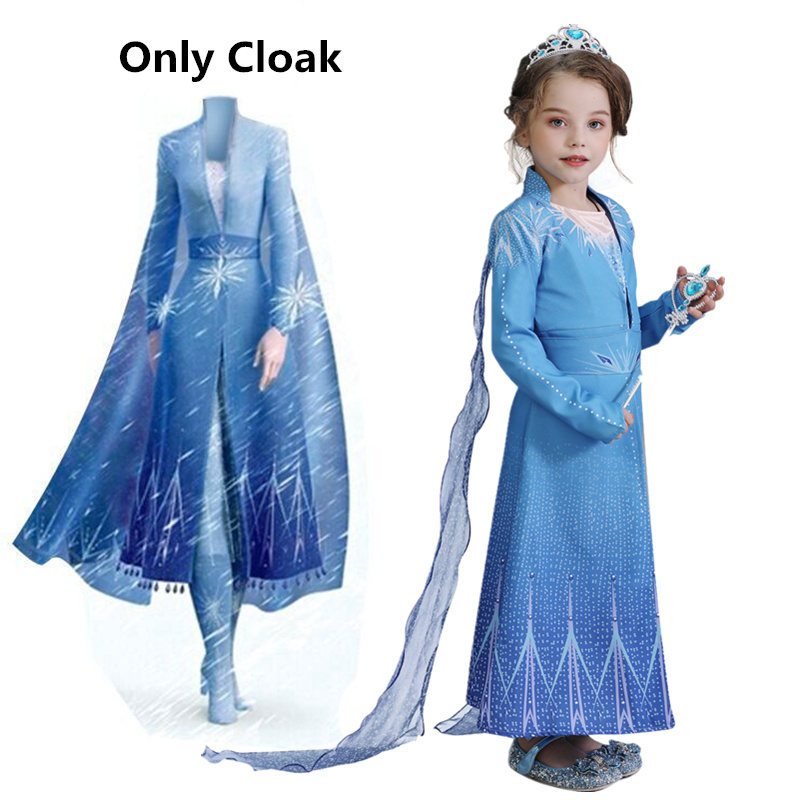 2019 Anna Elsa Dress For Girl Kids Princess Dress Up Frock Children Carnaval Cosplay Costumes Teenager Girl Halloween Party Robe