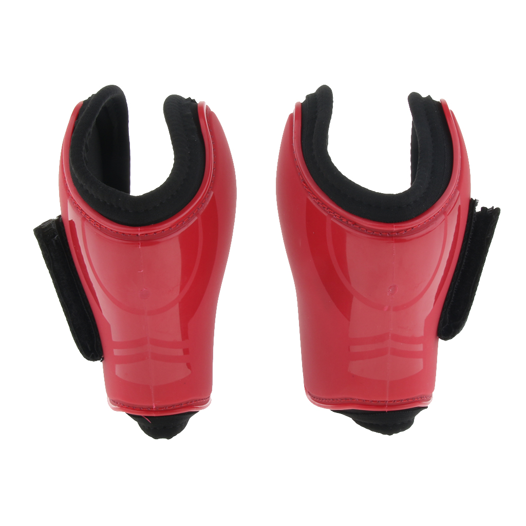 Horse Jumping Fetlock Boots Equine Horse Leg Support Boot  - Adjustable Hook Loop Closures,  PU Shell And Neoprene Lining