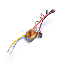 Hot 320A Brushed ESC 3S Electronic Speed Controller w/ 5V 3A BEC T-Plug For 1/10 RC Car Waterproof(China)