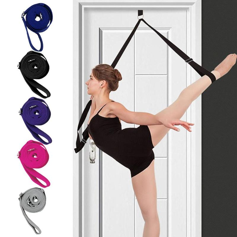 Door Flexibility Stretching Legs Stretcher Strap With Loops Split Training Waist Rope Gym Dance Ligament Stretch Belt Door Train