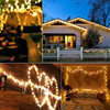 100 200 LED Solar Lamp Waterproof Copper Wire String Fairy Lights Christmas Party Garland Solar Power Lamp for Outdoor Garden promo