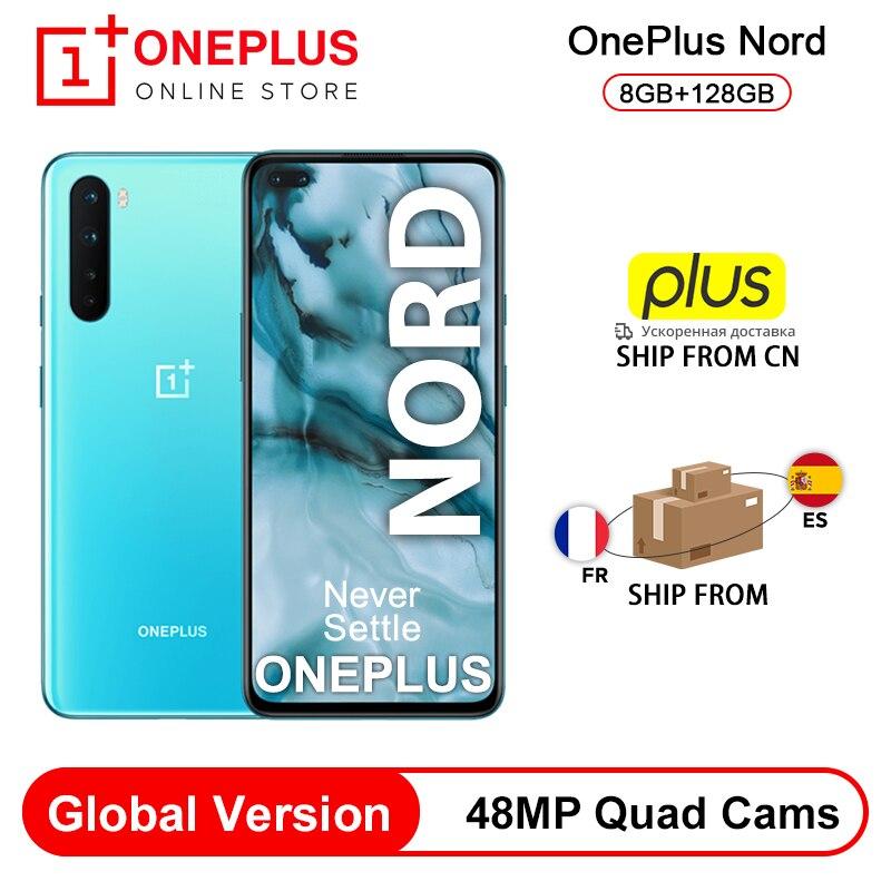 "Original versión Global OnePlus Nord 5G Snapdragon 765G teléfono inteligente 8GB 128GB 6,44 ""90Hz AMOLED 48MP Quad cámaras Warp CARGO DE 30T|Teléfonos móviles|   - AliExpress"