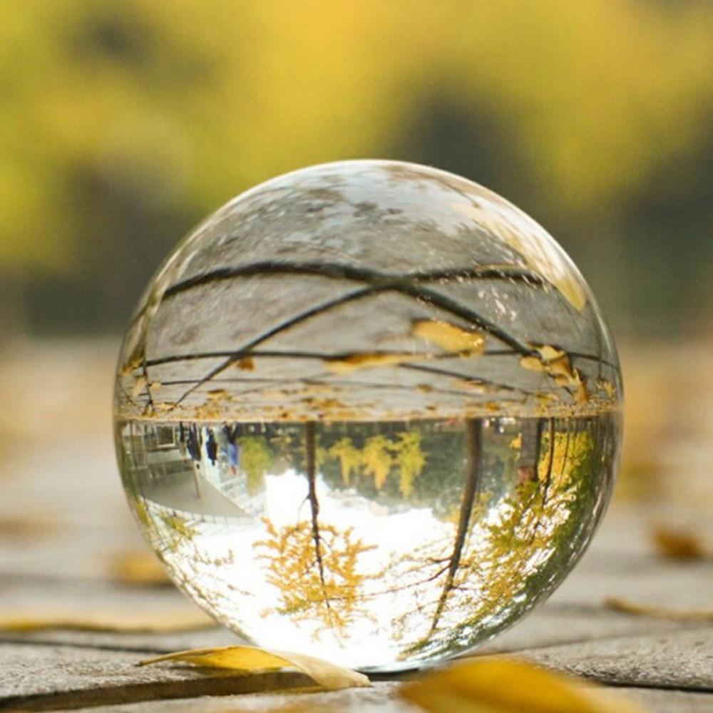 80mm Klar Glas Kristall Ball Healing Kugel Fotografie Requisiten Geschenke neue Künstliche Kristall Kugeln Für Home Hochzeit Dekoration