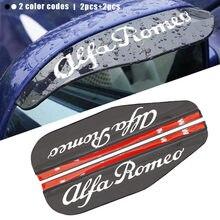 Espejo retrovisor para coche, cubierta tipo ceja a prueba de lluvia y agua, protector lateral para Alfa Romeo 159 147 156 Giulietta 147 159 MiTo