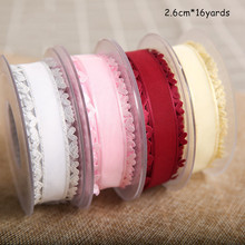 2.6cm Heart-shaped Silk Ribbon Bouquet Packaging Wedding Special DIY Material