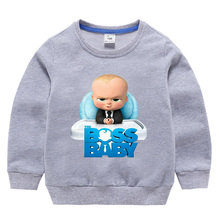 Baby Hoodies T-Shirt Boss Long-Sleeves Kids for 1-10Y Tops