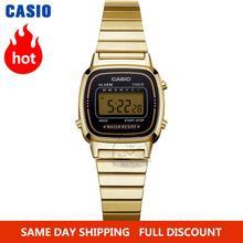 часы женские Casio золотые часы лучший бренд класса люкс водонепроницаемые кварцевые часы женские светодиодные цифровые спортивные женские ...