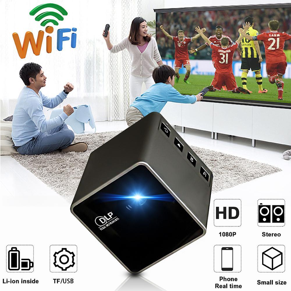 UNIC nouveau Mini projecteur DLP P1 + H Plus connexion sans fil Wifi pour IOS/Android/PC Support Portable DLNA projecteur de film à domicile - 3