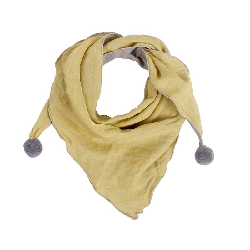 1pc Kids Baby Solid Color Scarf Cotton Triangle Scarves Autumn Winter Warm Shawl Wraps Neck Scraf Cravat Dropshipping