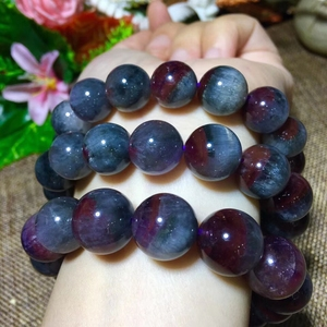 Image 4 - Genuine Natural Auralite 23 Round Beads Bracelet 12mm 13mm 14mm Natural Stone Bracelets Women Lady Stretch Healing Crystal