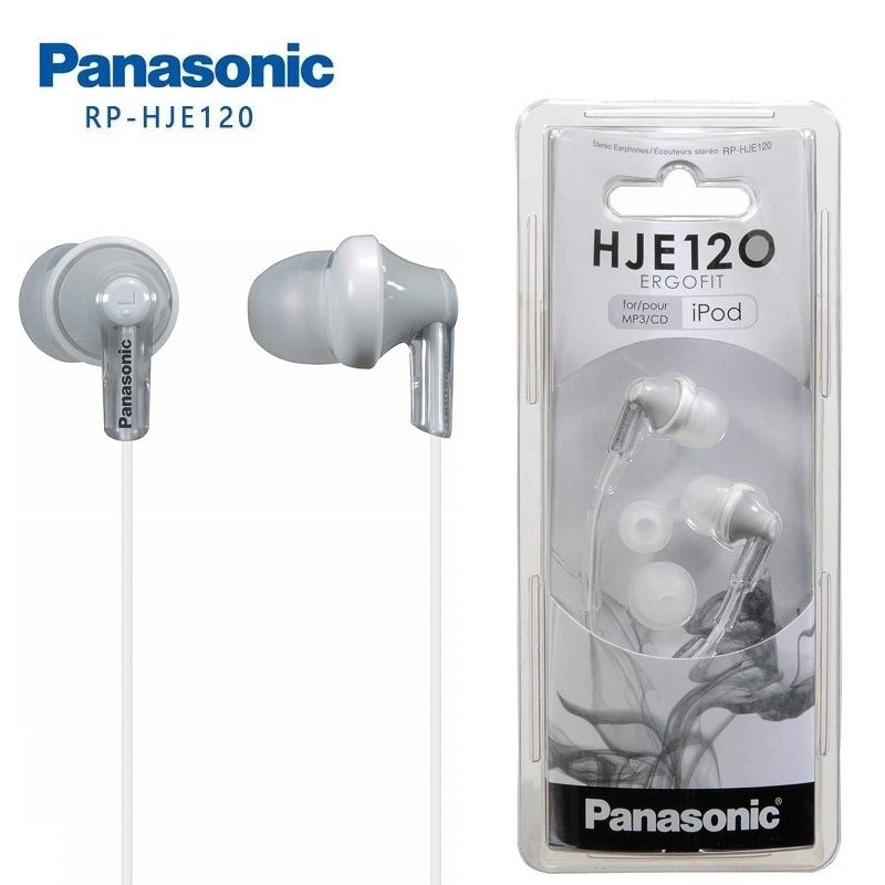 Original Panasonic RP-HJE120 In-Ear Earbuds Headsets Music Earphones 3.5mm For Huawei Samsung Xiaomi Mobile Phone
