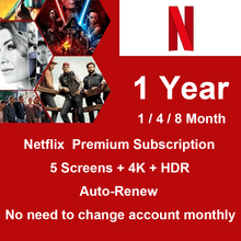 2021 New Netflix Premium Account UHD 5 Screens 1 Year Auto Renew Stickers Decoration Scrapbooking Paper Creative Stationary