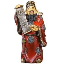 цена MOZART God Of Wealth Decoration Lucky Fortune God Of Wealth Buddha Statue God Of Wealth Opening Housewarming Gift Large Painted онлайн в 2017 году