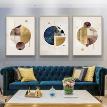 Modern In the circle Hd Printed Scenery Poster Wall Painting Living Room Paintings Decor