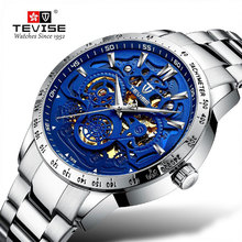 цена TEVISE Watch Multi-function Automatic Business Men Watch Mechanical Watch Tourbillon Hollow Out Waterproof Sports Wristwatch онлайн в 2017 году