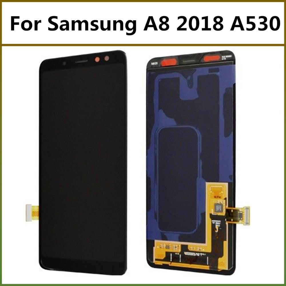 5.6inch Screen Super Amoled LCD Screen For Samsung Galaxy A8 2018 A530 LCD Display Touch Screen Panel Digitizer Display Assembly
